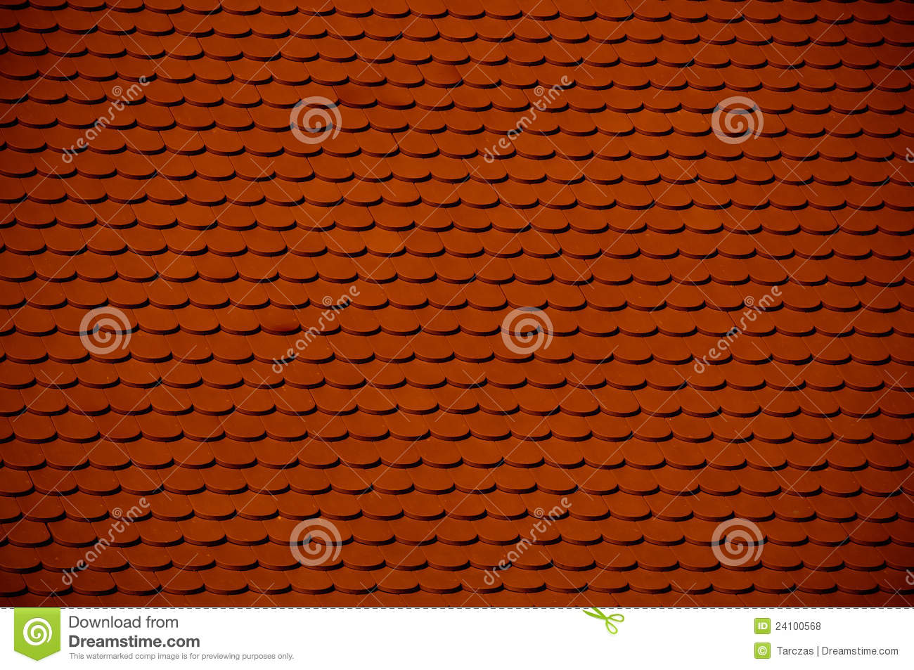 Red Clay Roof Tile Royalty Free Stock Photos - Image: 24100568