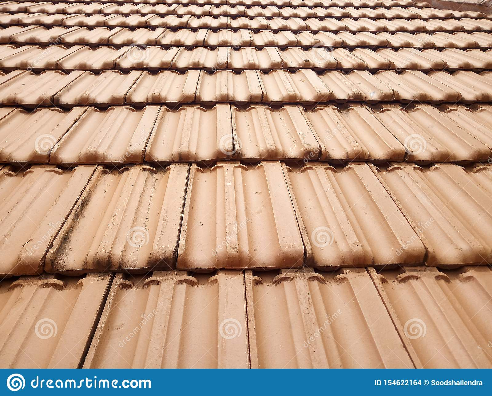 Red Clay Roof Tiles Texture Pattern Stock Photo Image Of Background Construction 154622164