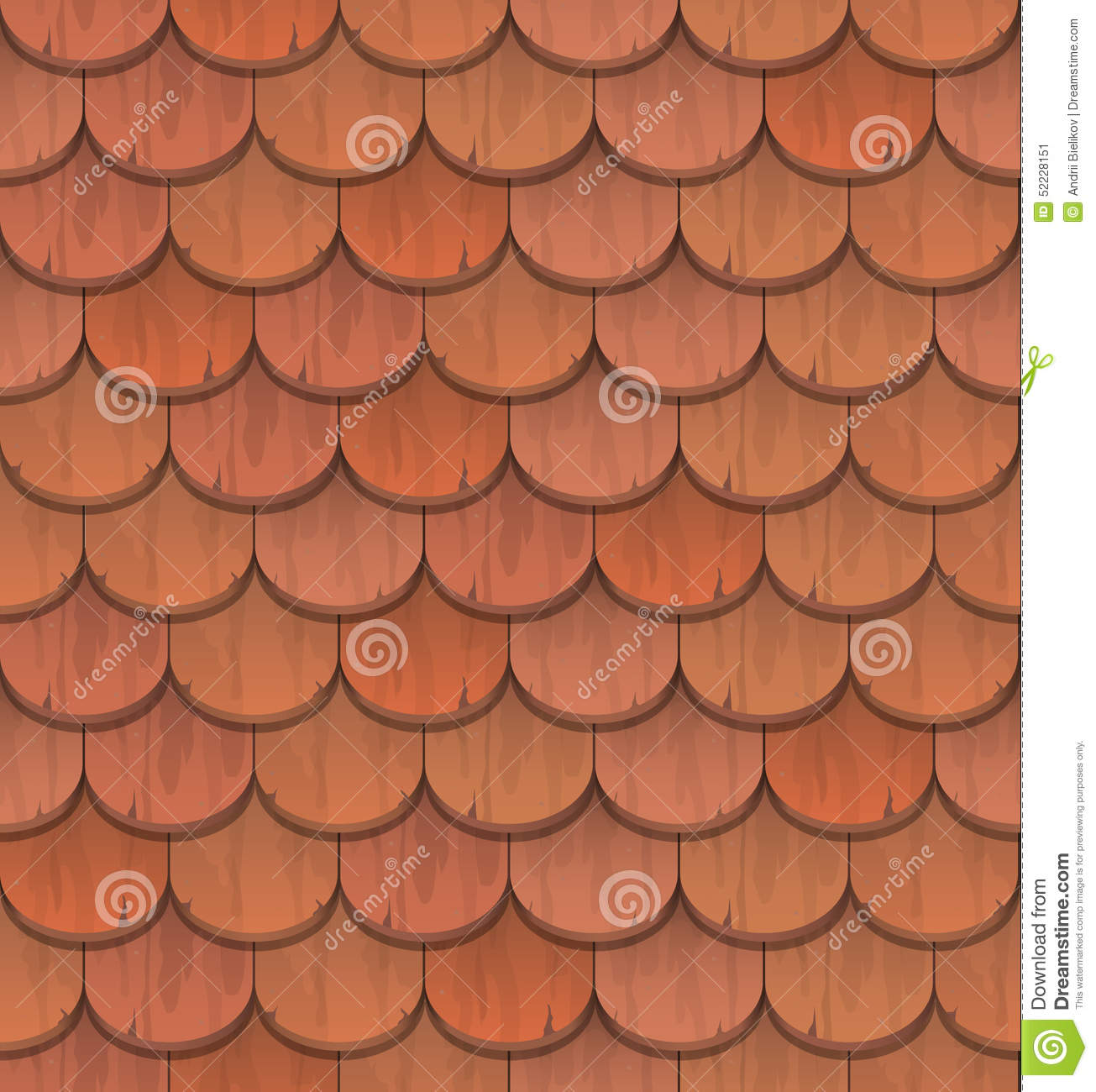 Red clay roof tiles stock vector image 52228151 for Roof tile patterns