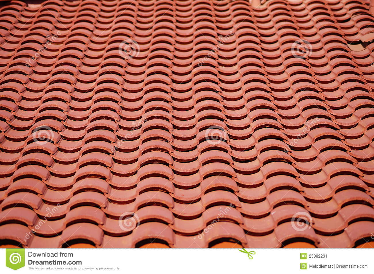 Red Roof Tiles Pattern Stock Image