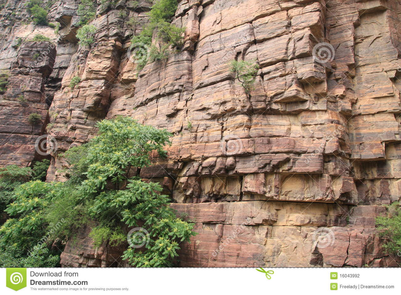 Red cliff in Taihang mountain of China