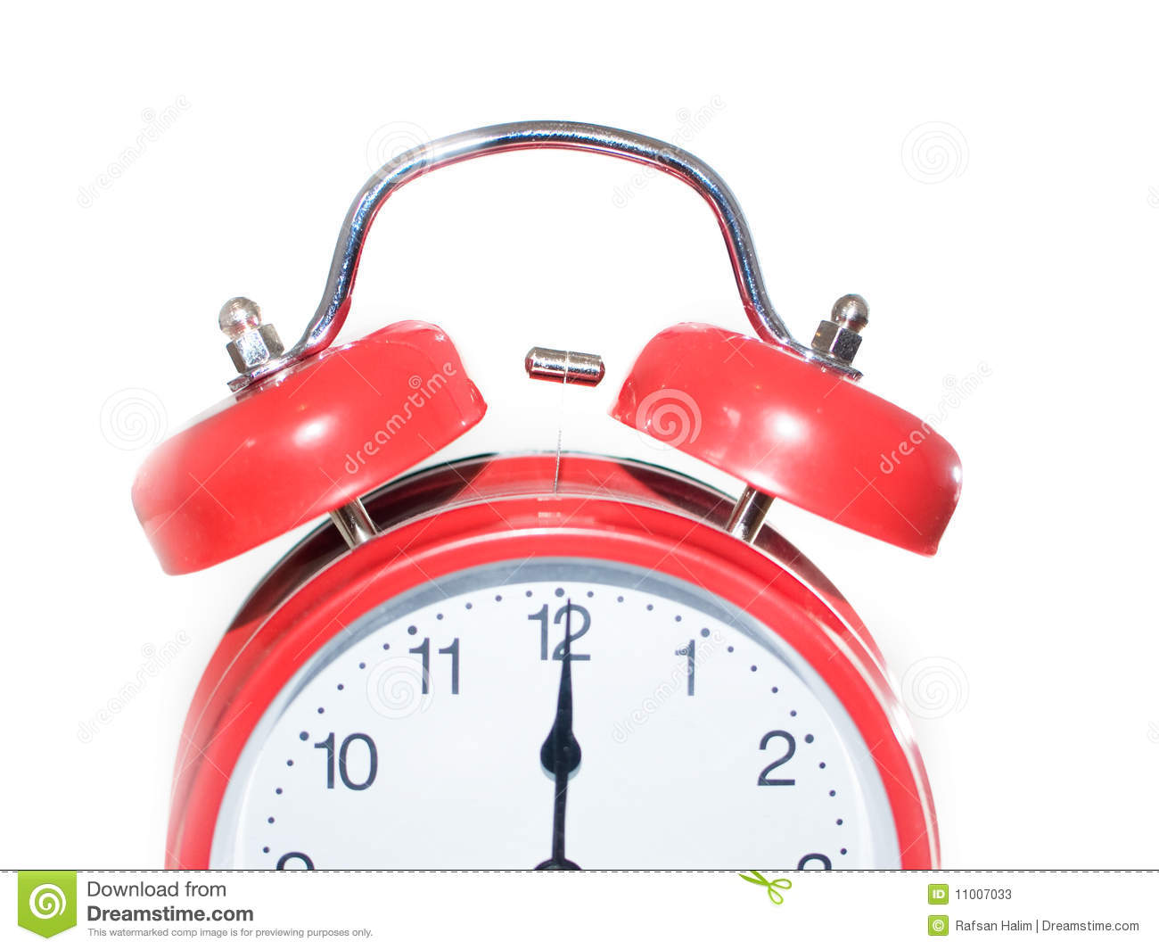 Red Clock At Midnight/midday Stock Photos - Image: 11007033