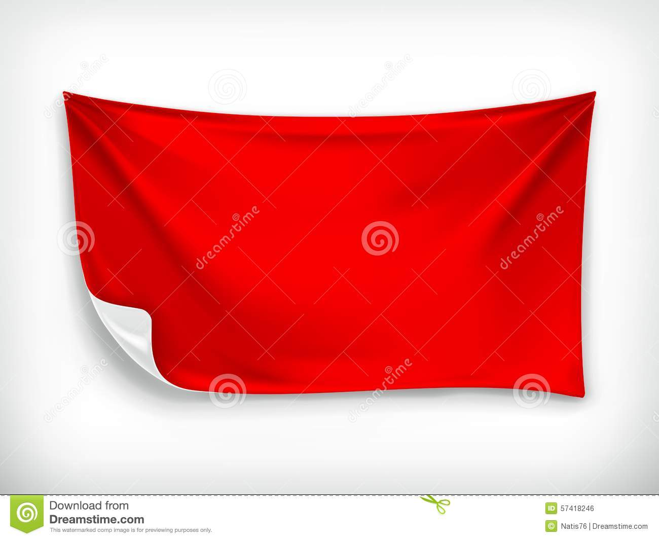 red cloth banner stock vector image of flag marketing 57418246