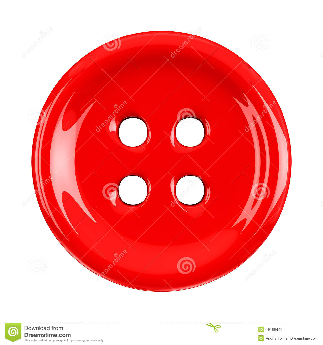 Red Cloth Button 3d Stock Illustration Image 49166440
