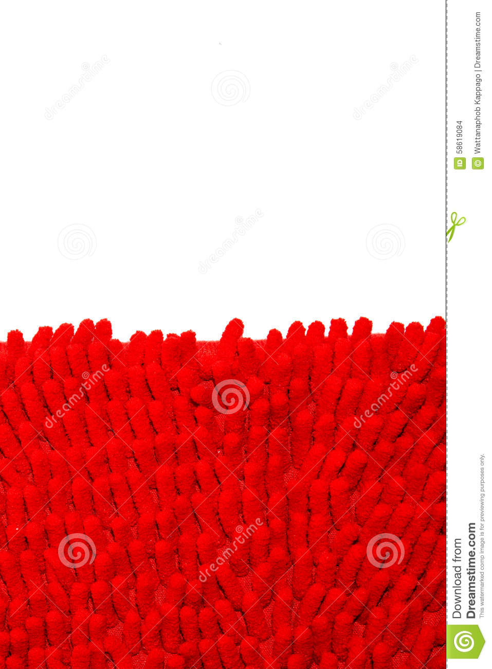 Red Cloth Mat In The Room And Office Stock Photo Image