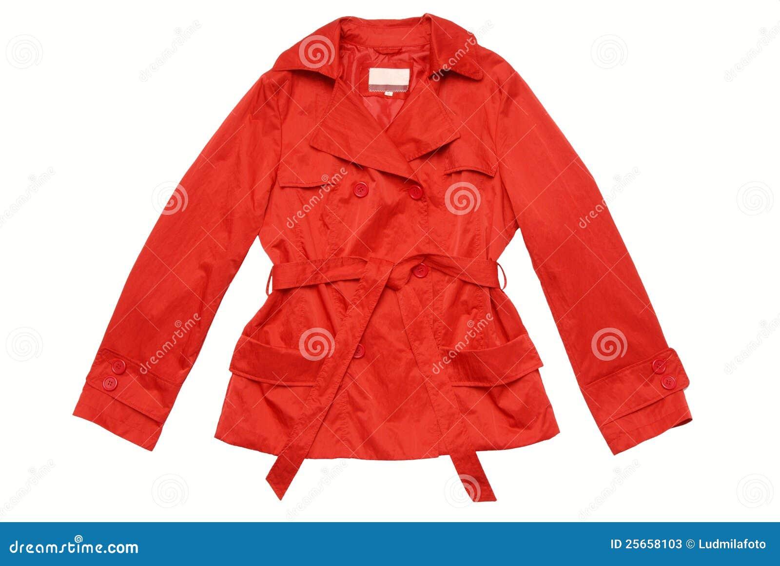 Red Coat / Jacket / Raincoat Isolated. Stock Photos - Image: 25658103