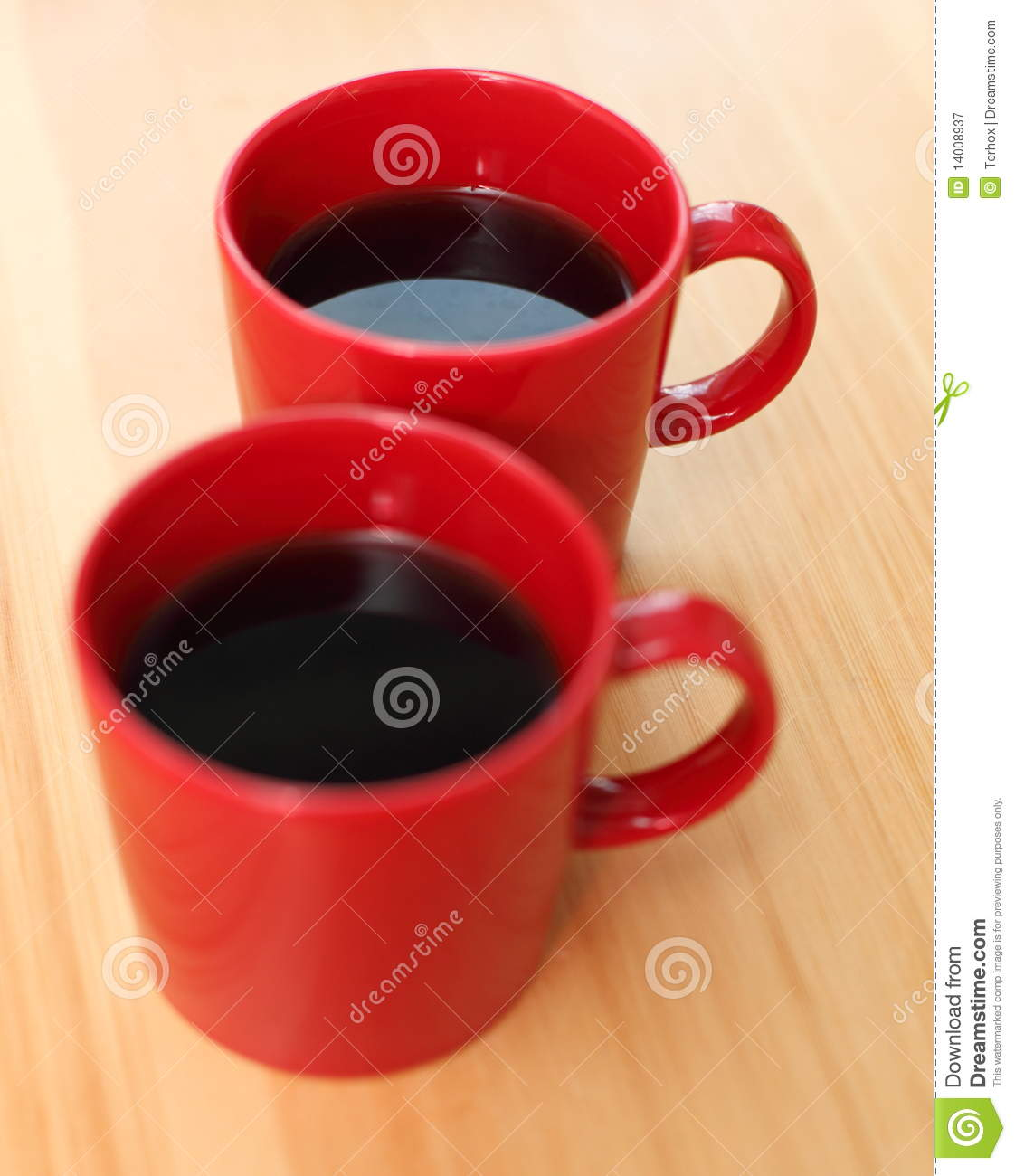 Red Coffee Mugs Royalty Free Stock Photography Image