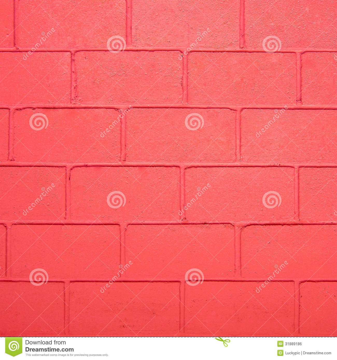Red Colour Wall: Red Color Brick Wall Stock Photo. Image Of Retro, Textured