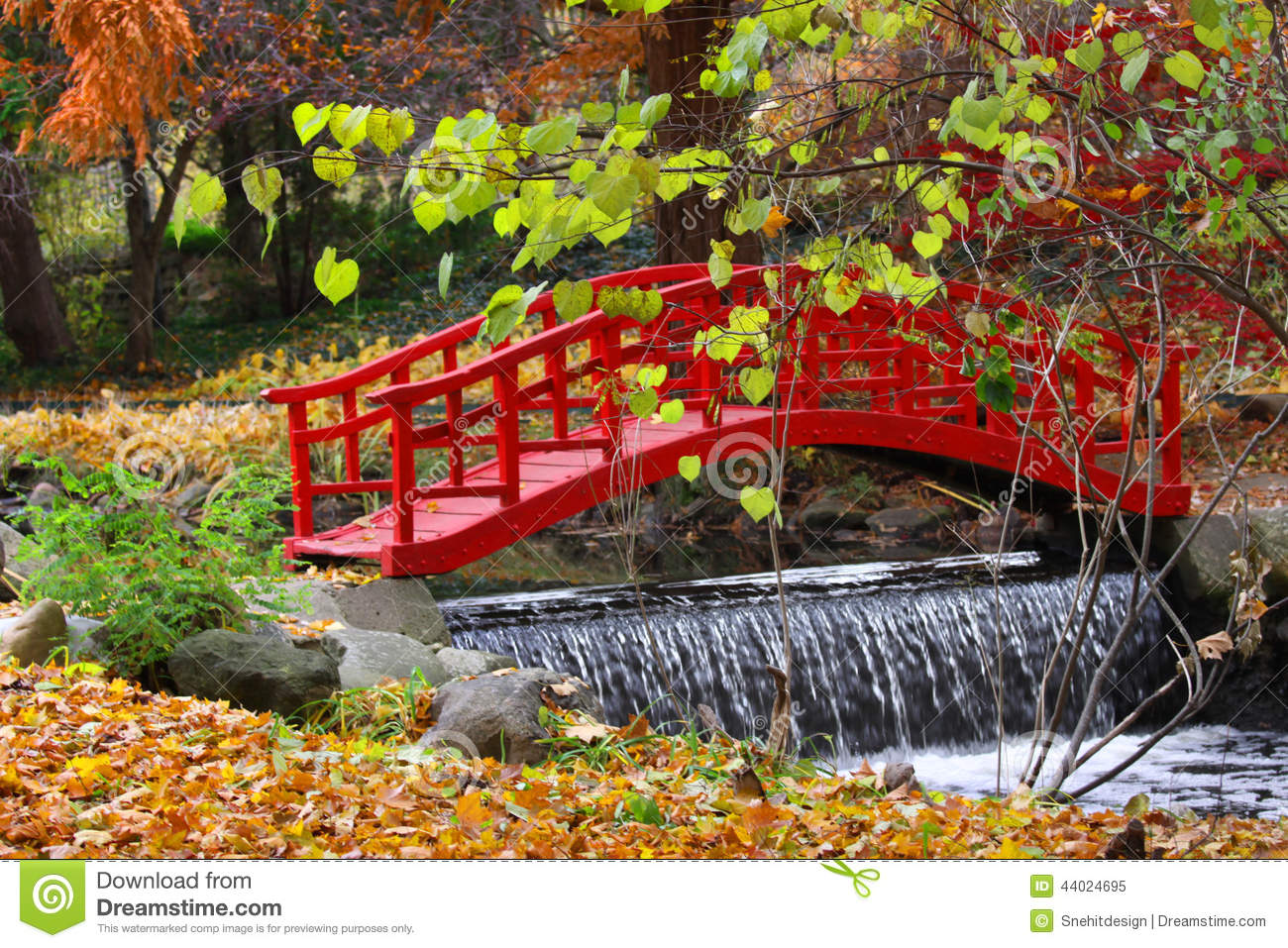 Red color bridge stock photo image 44024695 for Japanese garden colors
