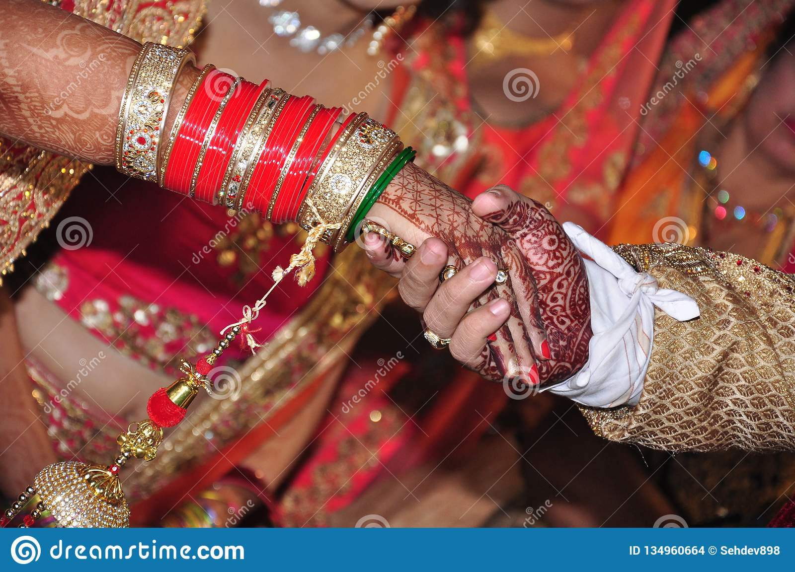 Indian Couple hands in marriage