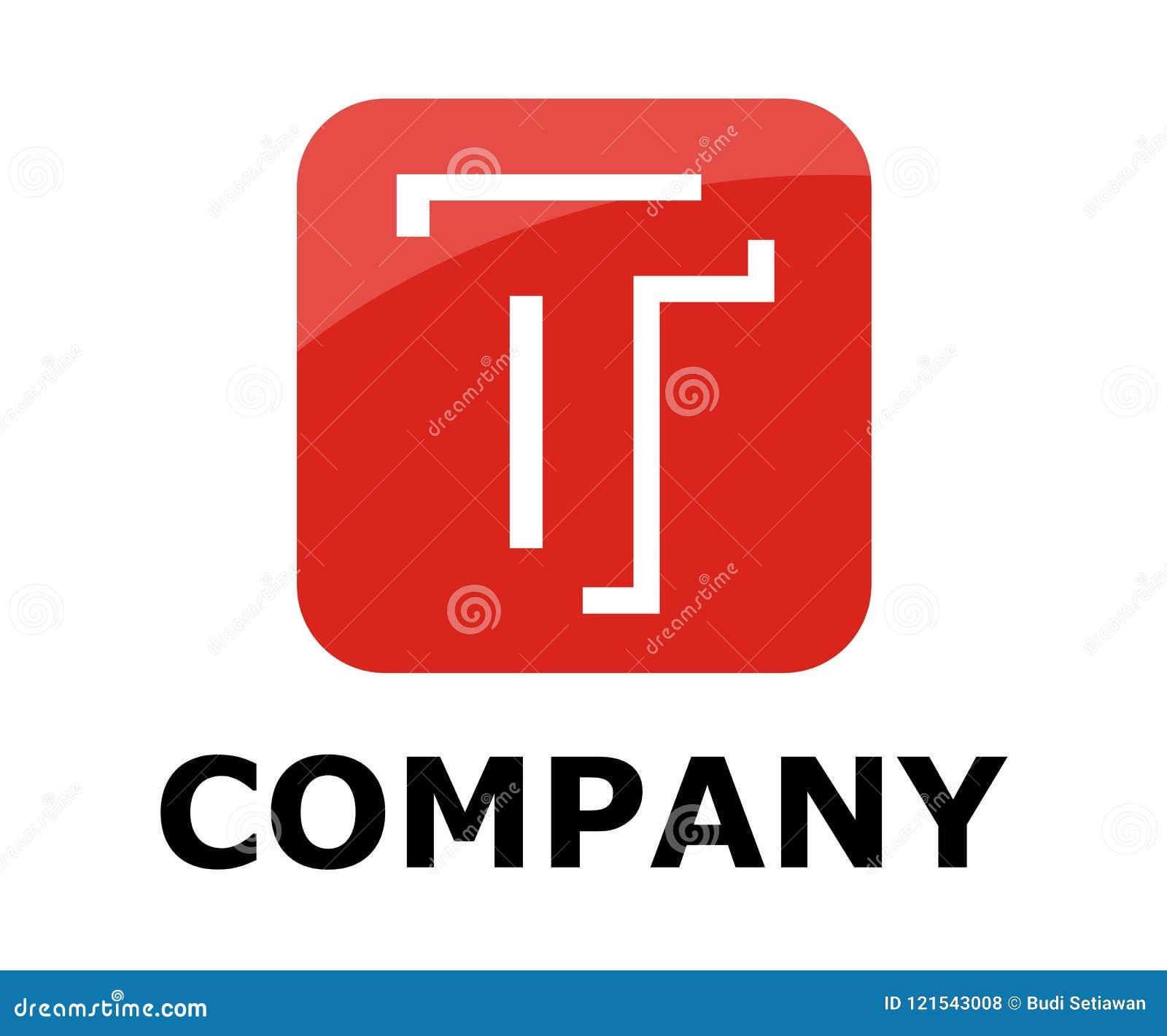 Line In Box Logo T Stock Vector Illustration Of Line 121543008