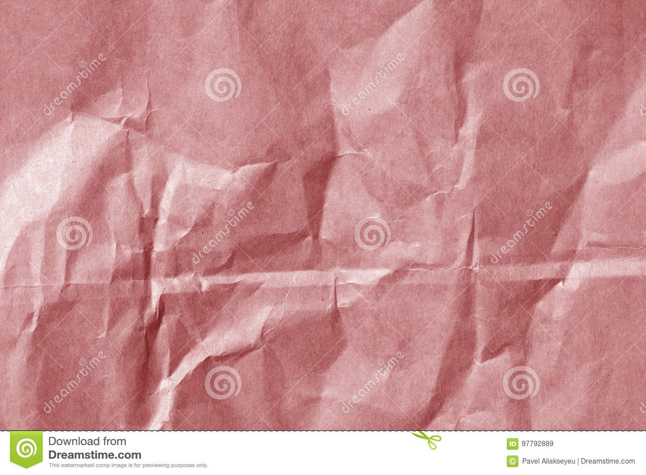 Red Color Paper Sheet Surface With Wrinckles. Stock Image - Image of ...