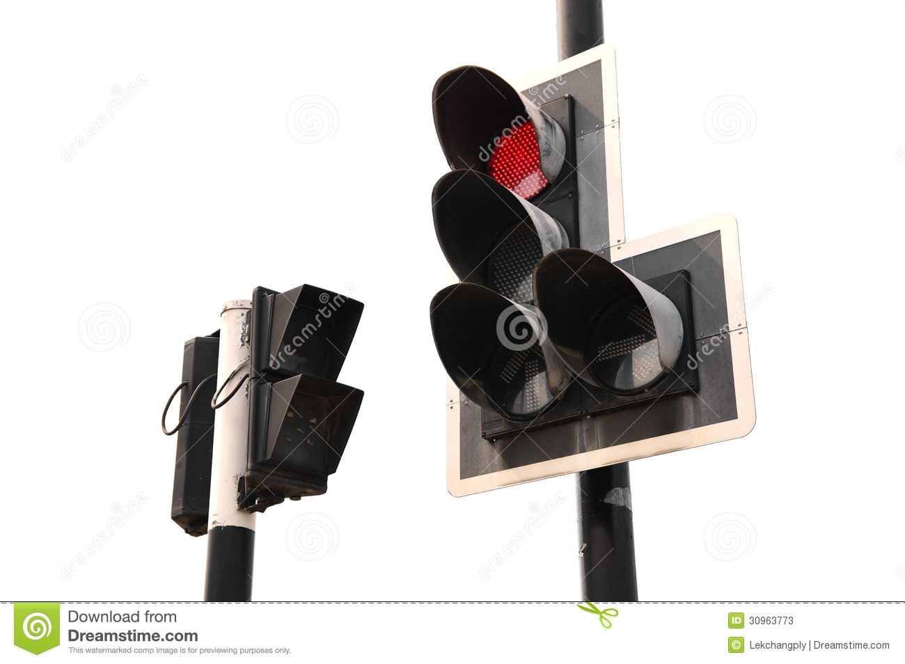 Red Color On The Traffic Light Royalty-Free Stock Photo ...