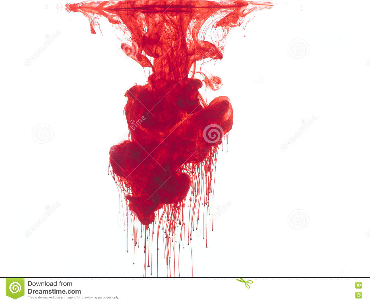 Download Red color in water stock image. Image of bleed, blood - 71950543