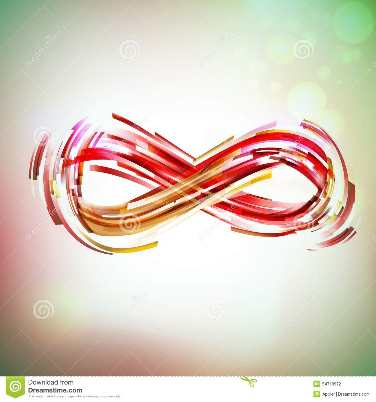 Red colors infinity symbol at light sky stock vector for Sfondi infinity