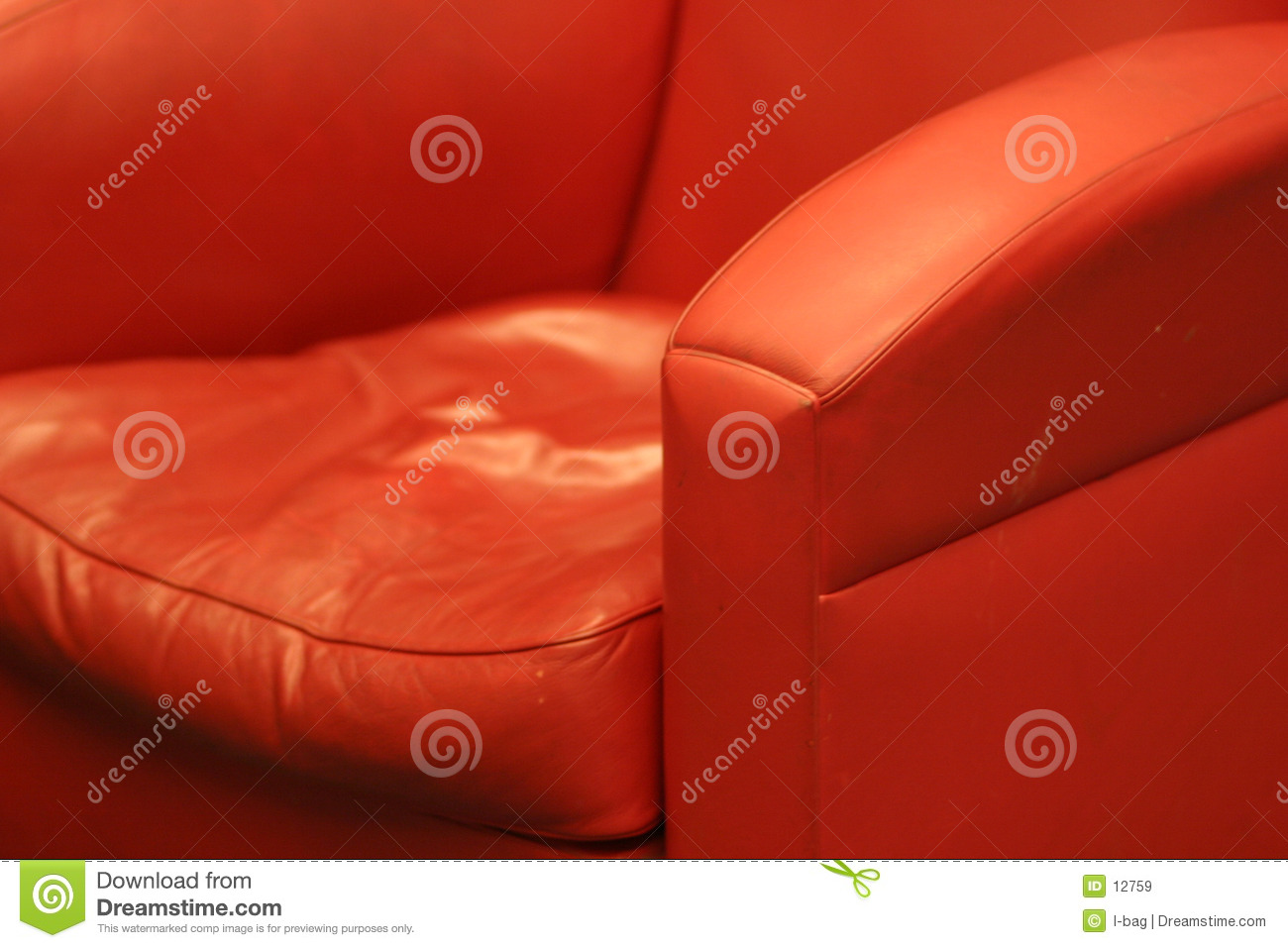 Red comfortable leather chair