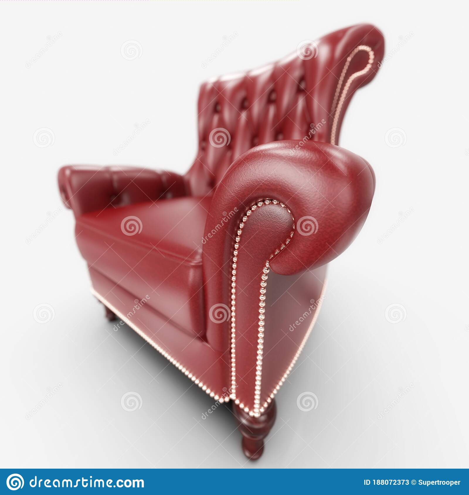 Red Comfortable Office Leather Armchair Stock Image Image Of Leather Boss 188072373