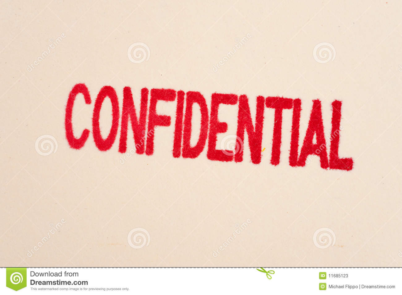 Red Confidential Stamp On A Folder Stock Photos - Image: 11685123