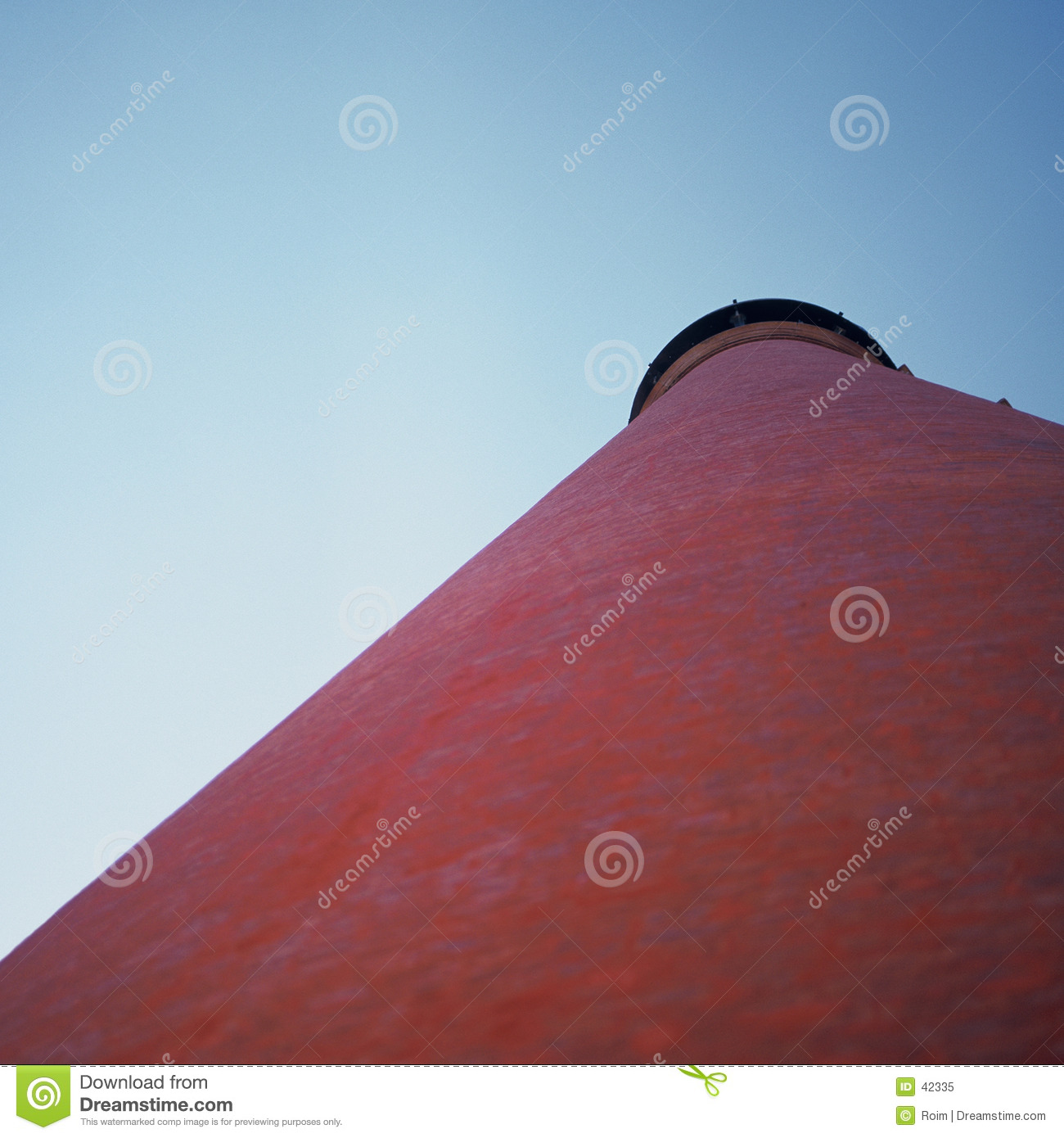 Red conical roof