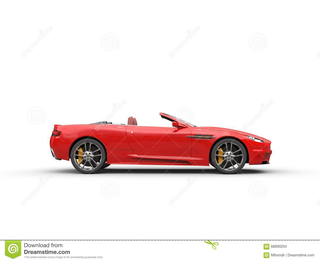 Sports Car Side View Convertible