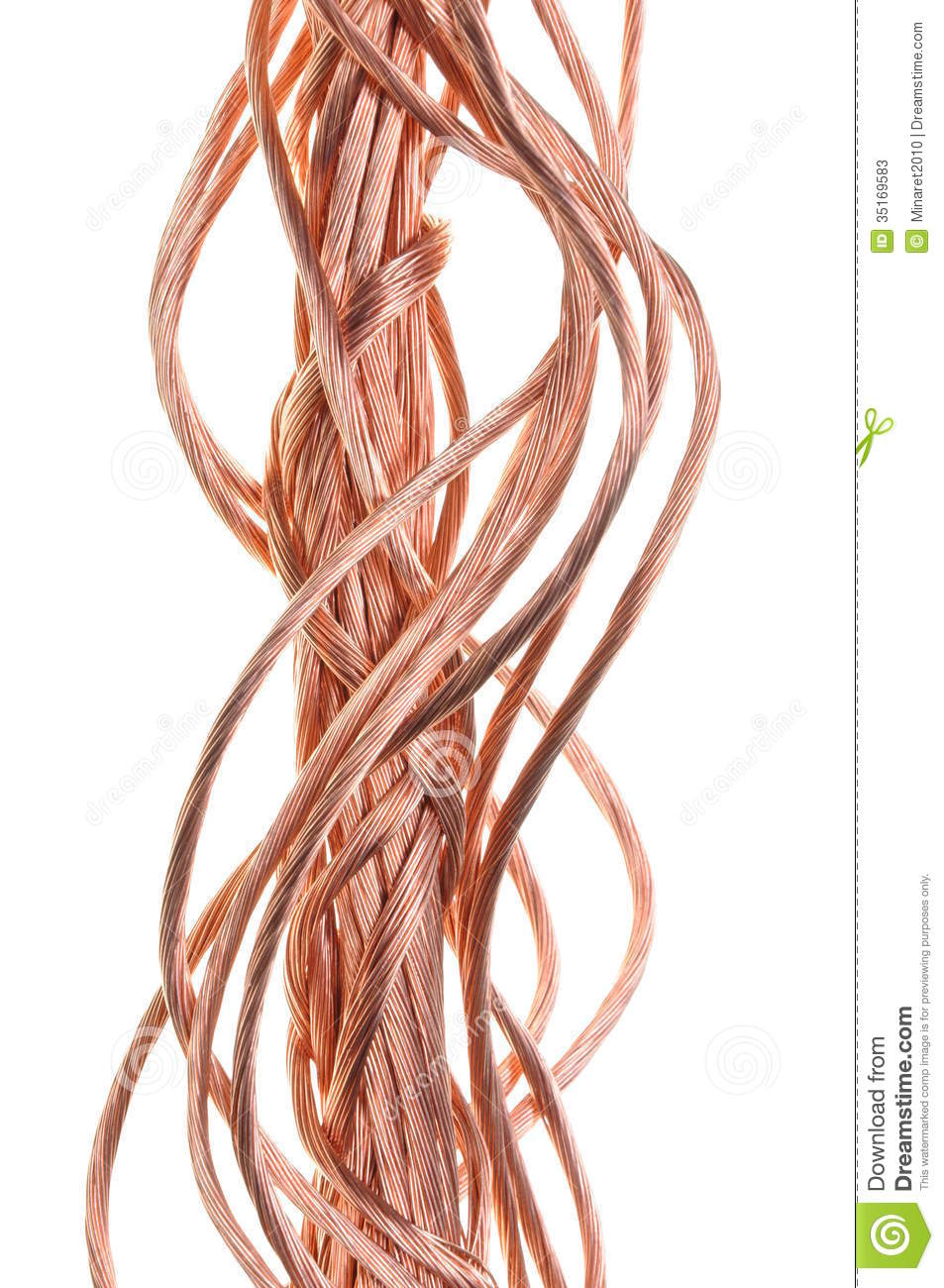 Red Copper Wire Component For Industry Stock Image Of Wiring White Black Silver Gold