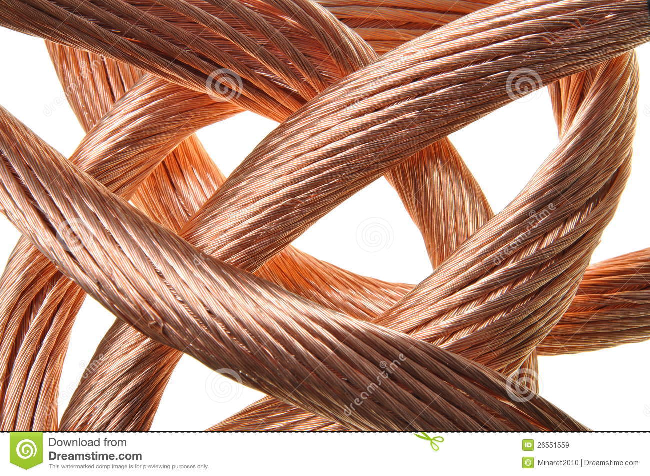 Copper Cable Market Share : Red copper wire industry royalty free stock images image