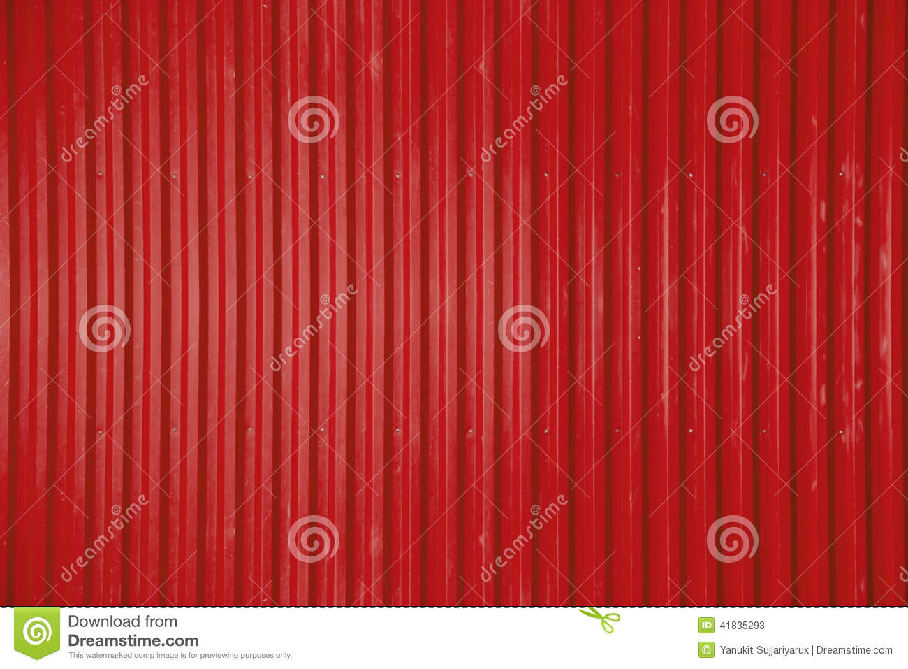 Red Corrugated Metal Sheet Texture Background Stock Photo