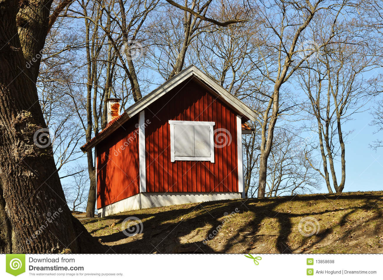Red Cottage Royalty Free Stock Photos Image 13858698