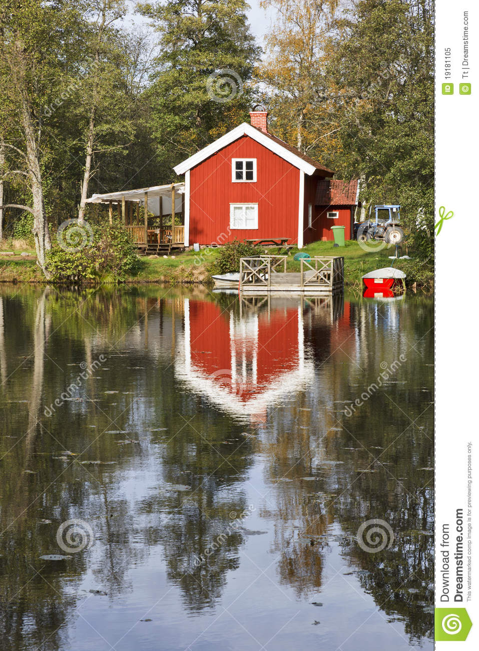 Red cottage royalty free stock photo image 19181105 for Red cottage