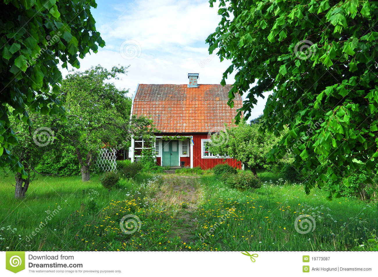 Red cottage royalty free stock photography image 19773087 for Red cottage