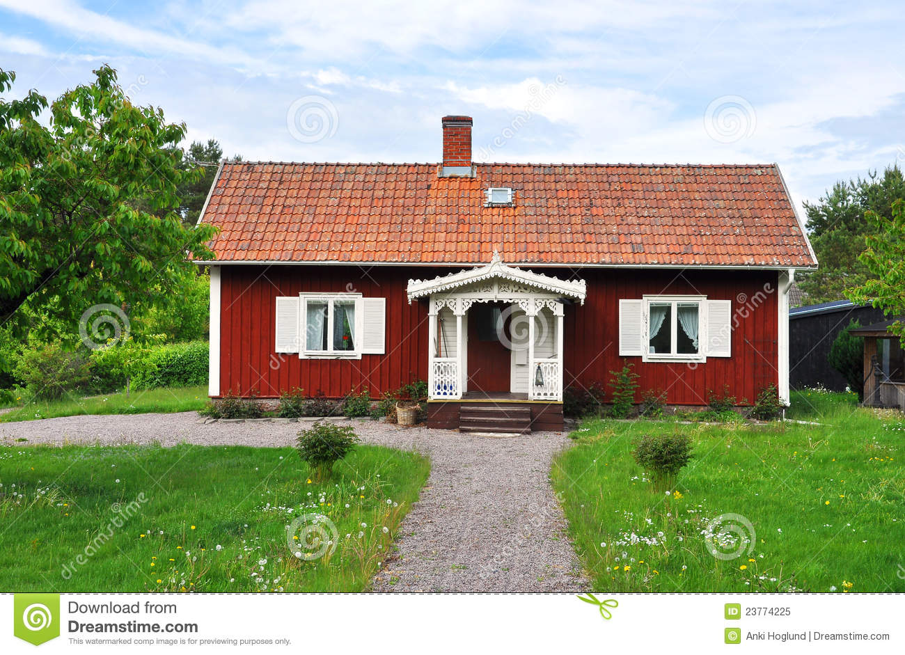 Red Cottage Royalty Free Stock Photo Image 23774225