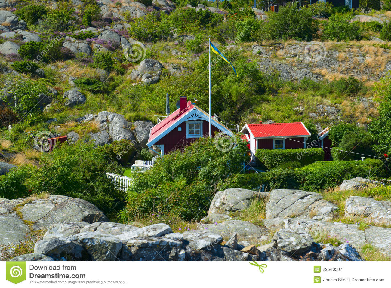 Red Cottage Royalty Free Stock Photography Image 29540507