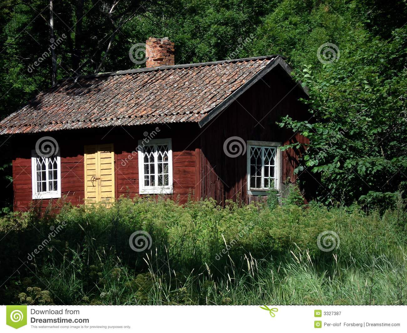 Red Cottage Royalty Free Stock Photography Image 3327387