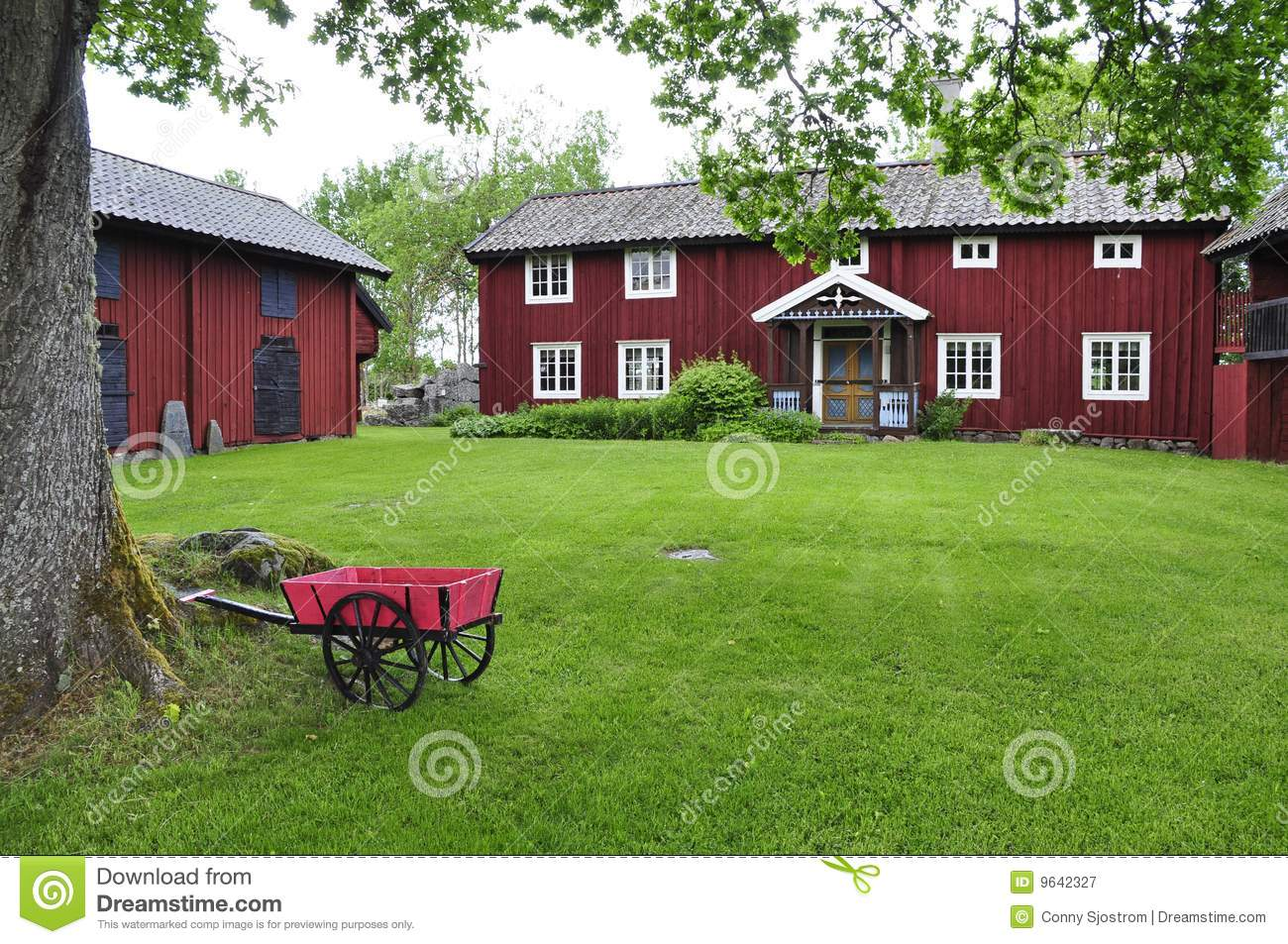 Red Cottage Royalty Free Stock Photography Image 9642327