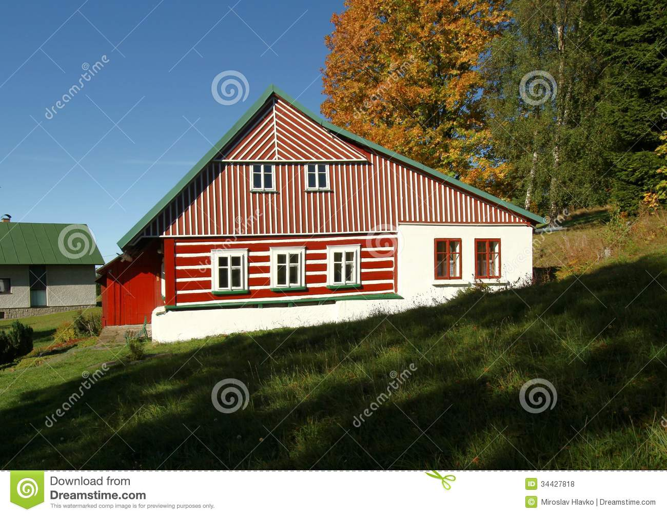 Red cottage royalty free stock photos image 34427818 for Red cottage