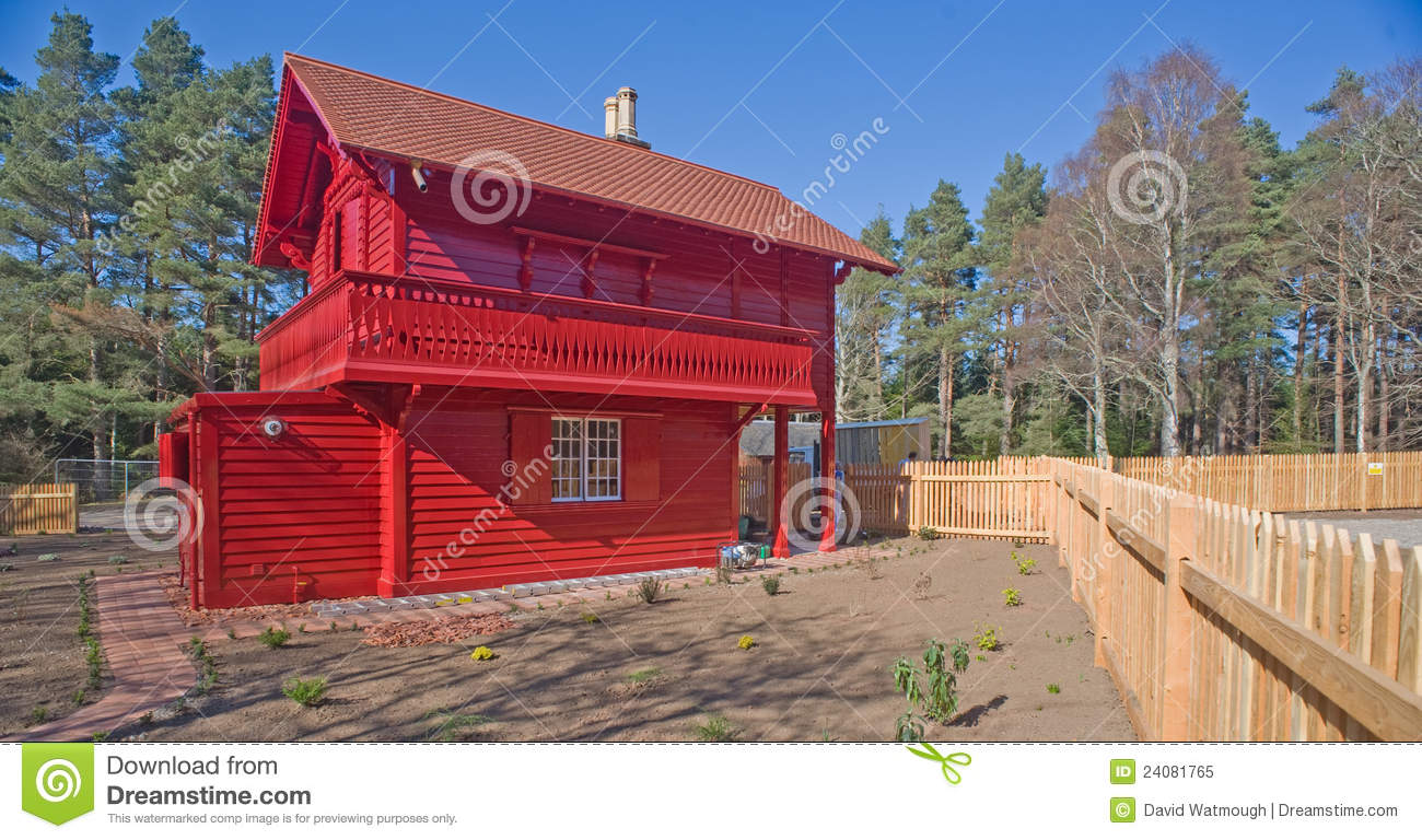 Red cottage swiss style royalty free stock photo image for Red cottage