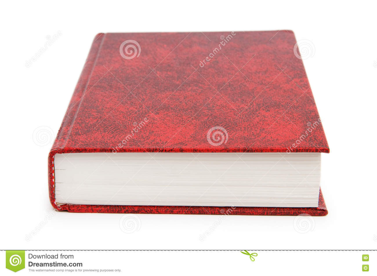 Book Cover White Background : The red cover book isolated on white background stock
