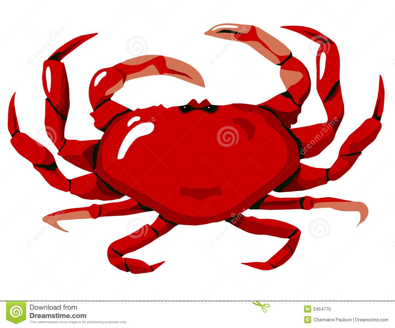 Red Crab Stock Photo - Image: 2454770