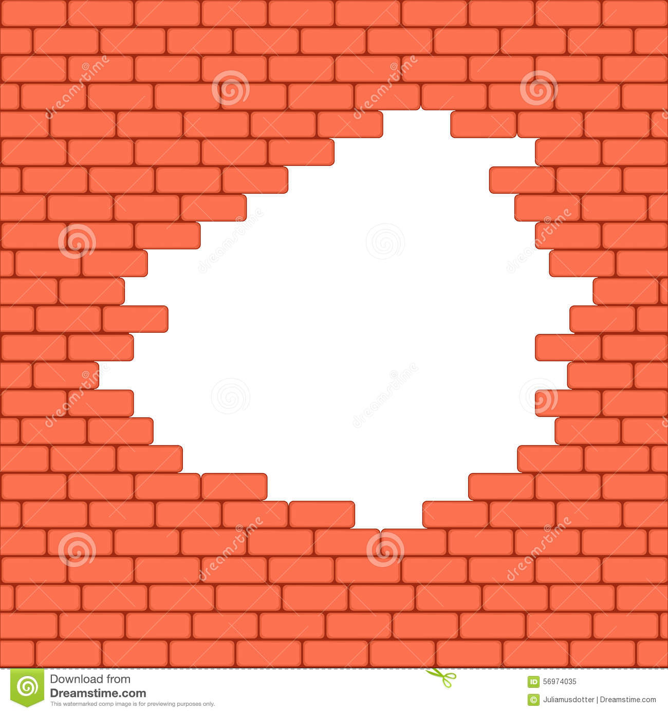 Red Brick Wall Seamless Illustration Background