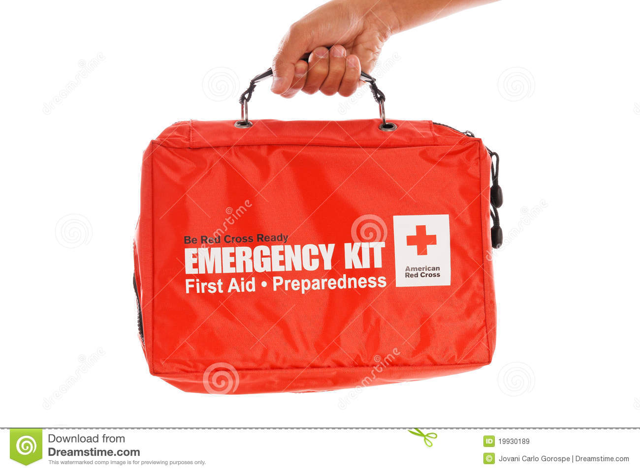 Red cross emergency kit editorial stock image image 19930189