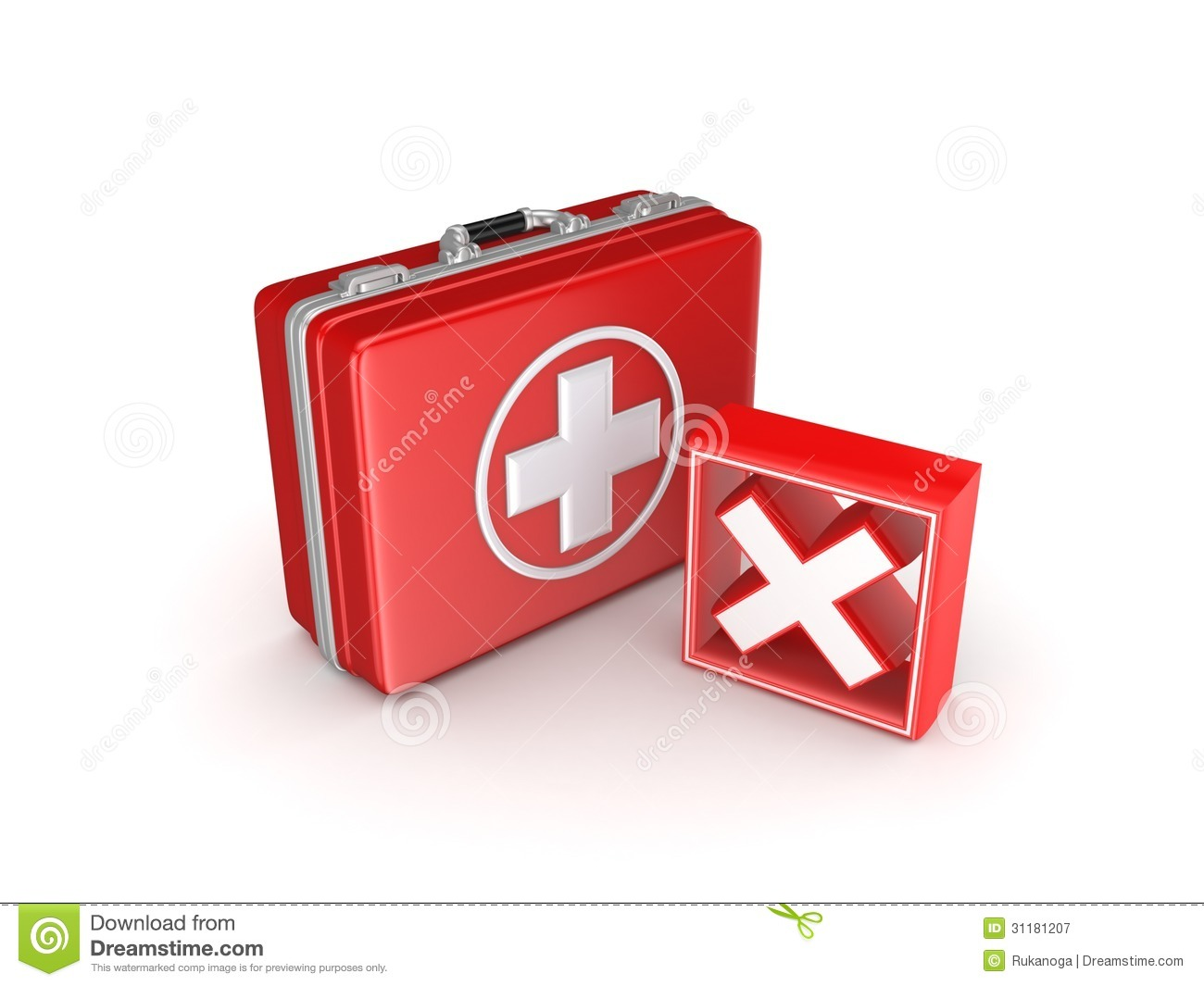 Red Cross Mark On A Medical Suitcase. Royalty Free Stock ...