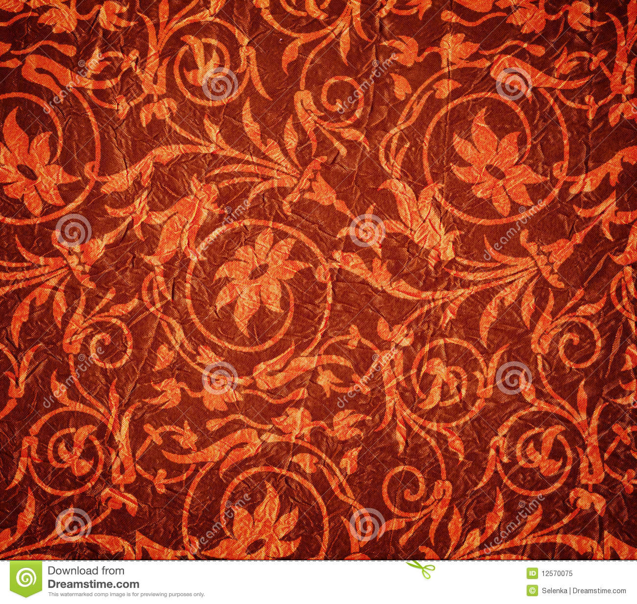 Red crumpled fabric