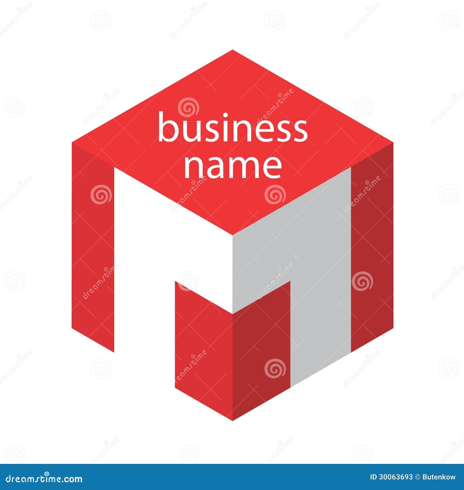 Logo Red Cube Stock Photos - Image: 30063693