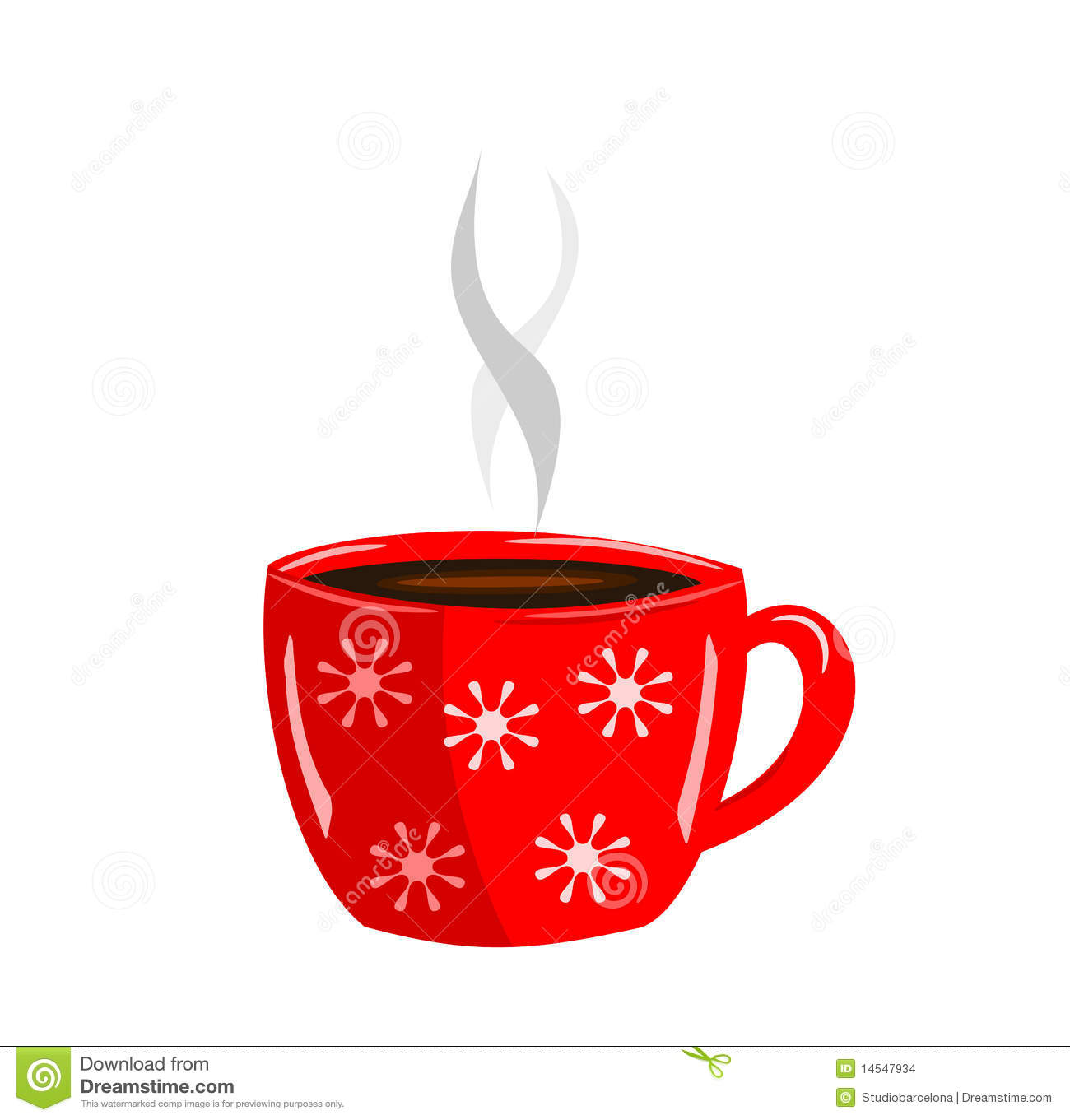 red cup coffee 14547934 Blue Max Coffee Christmas Card With Hot Cup Of Coffee Stock Image Image