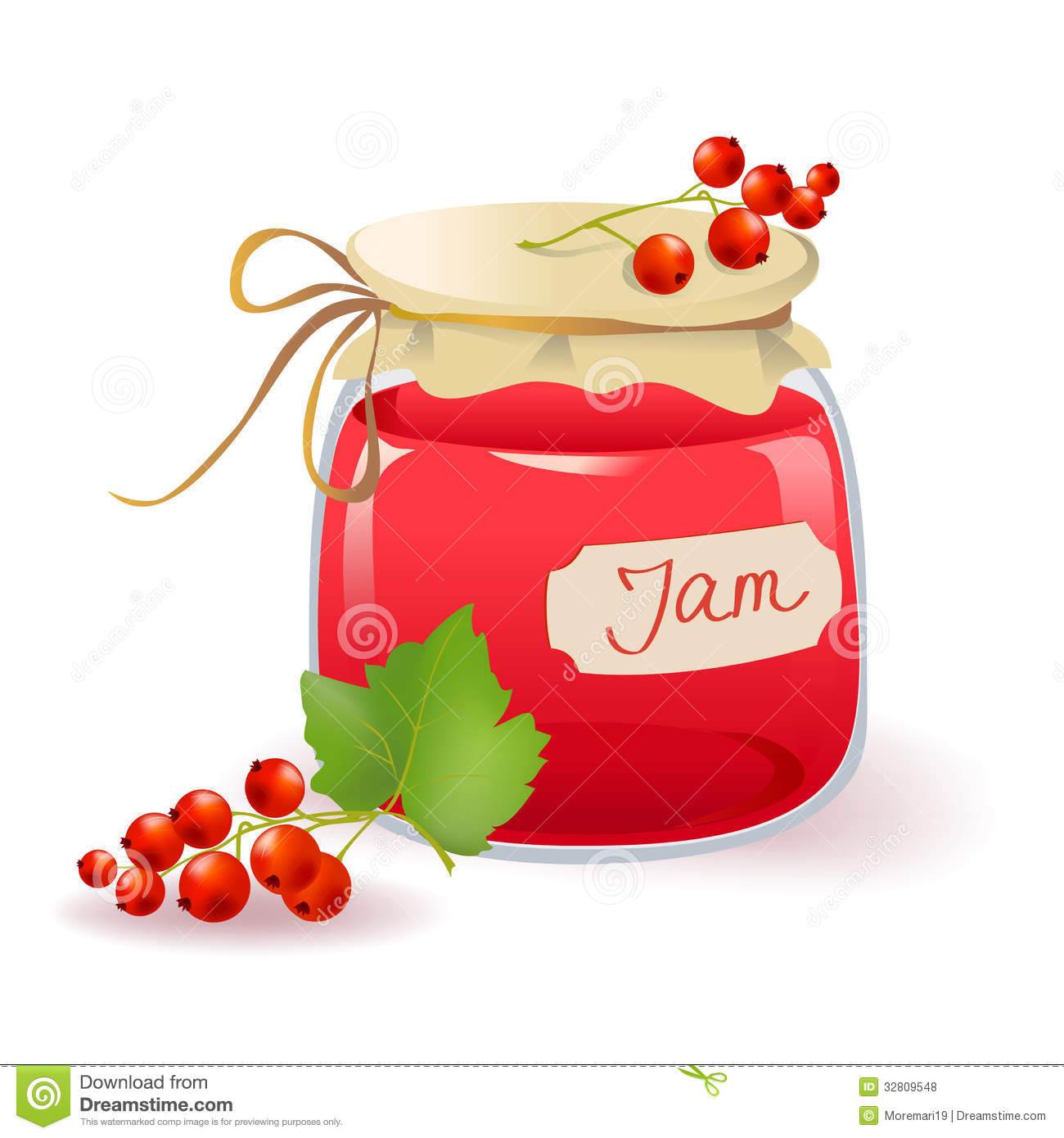 Red Currant Jam Royalty Free Stock Photos - Image: 32809548
