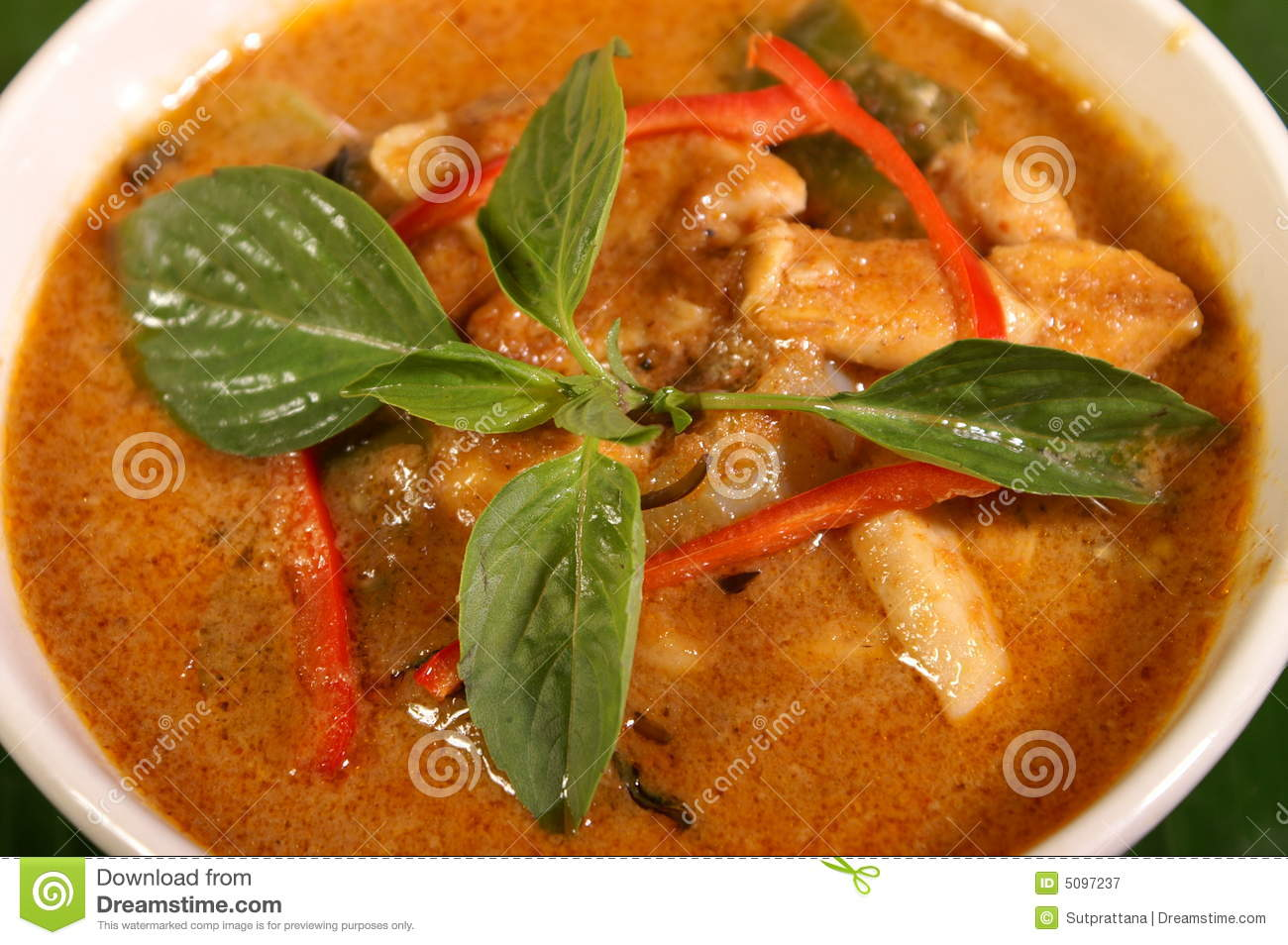 Red Curry Soup Royalty Free Stock Photography - Image: 5097237