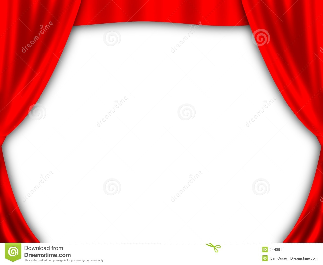 Red Curtain Stock Image - Image: 2448911