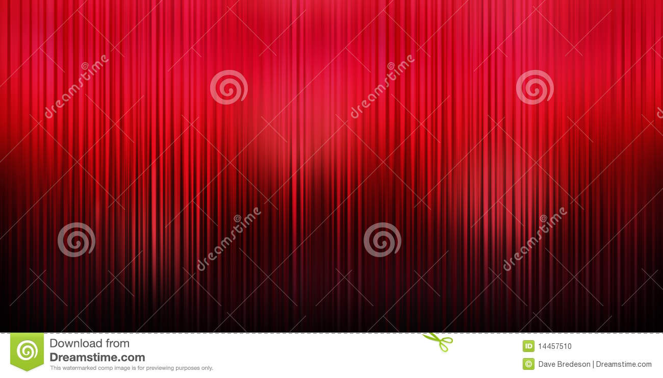 Red Curtain Theater Background