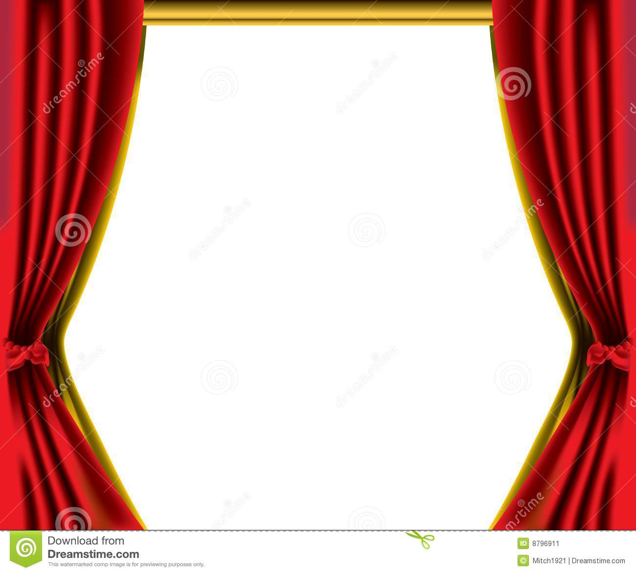 Red Curtain Border Stock Illustration Image Of Cloth