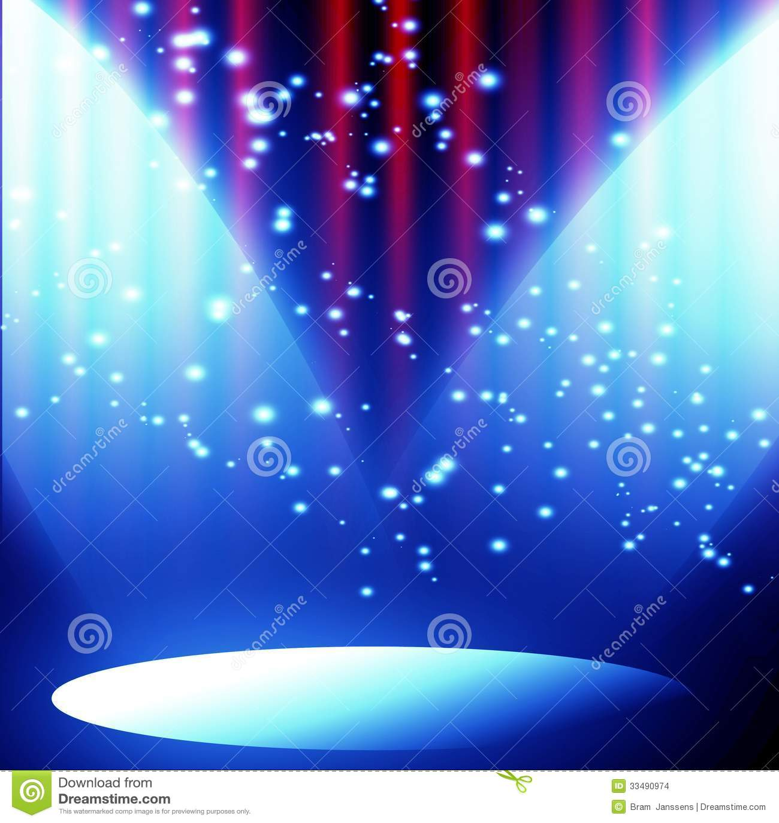 Red curtains with spotlight - Curtain Movie Red Spotlight